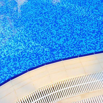 Swimming pool at hotel close-up